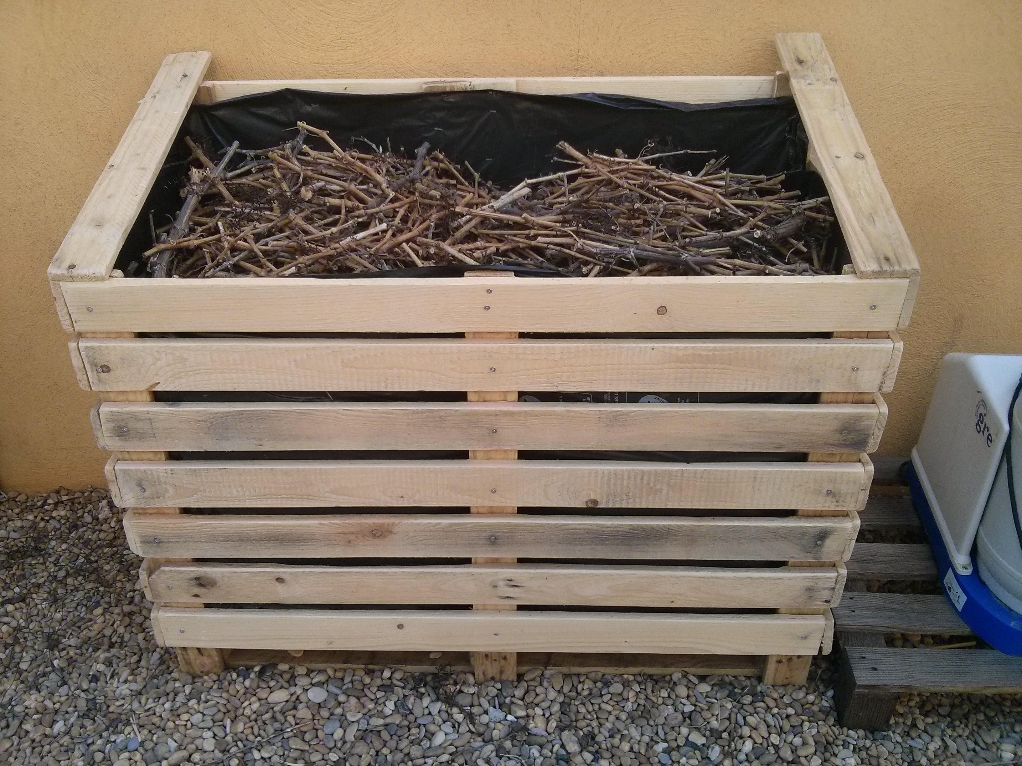 Abri bois rangement ext rieur pour bois de grillade - Rangement buches exterieur ...