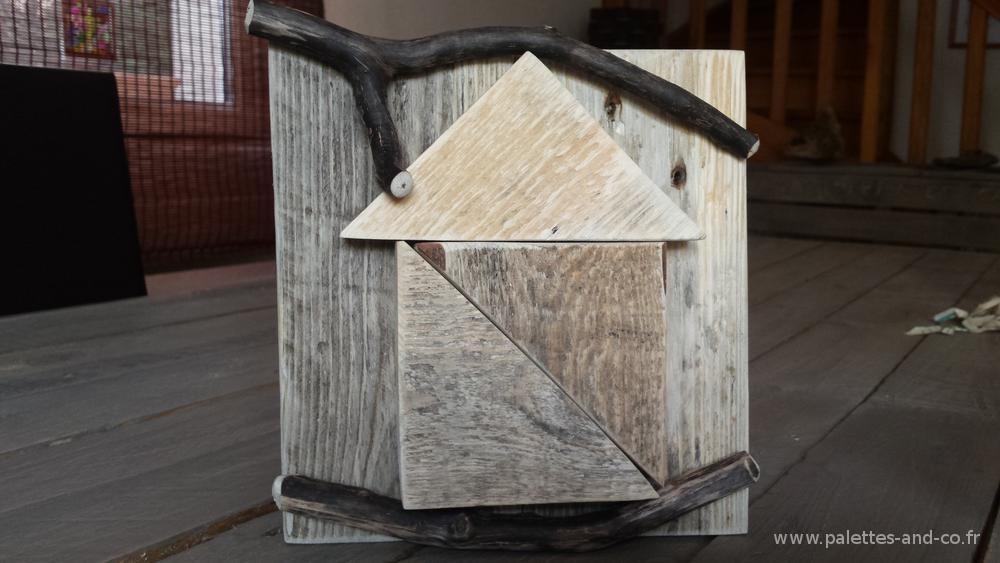 D coration maisonnette en bois massif palettes et bois for Bois flotte beziers