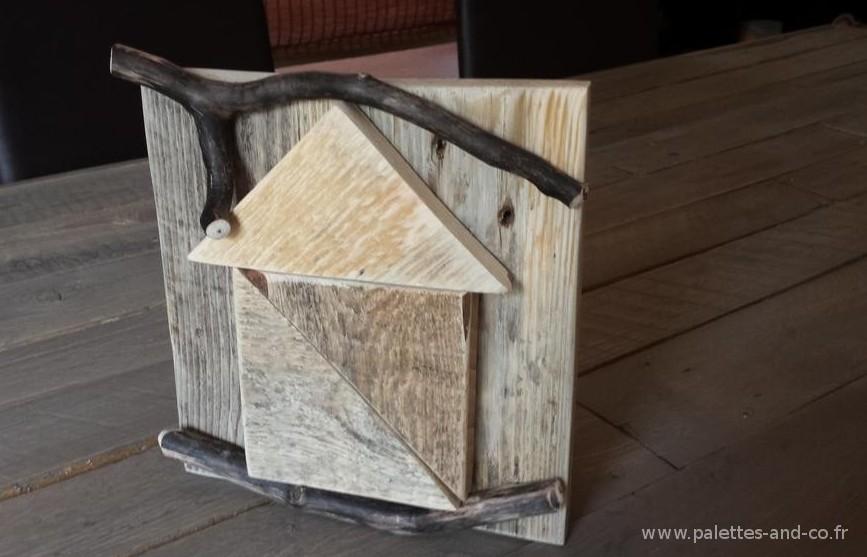 D coration maisonnette en bois massif palettes et bois for Palette de bois decoration
