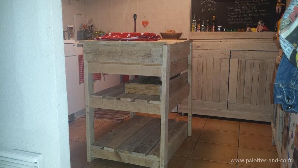 Comment fabriquer un lot central de cuisine en palettes - Fabriquer une cuisine en bois ...