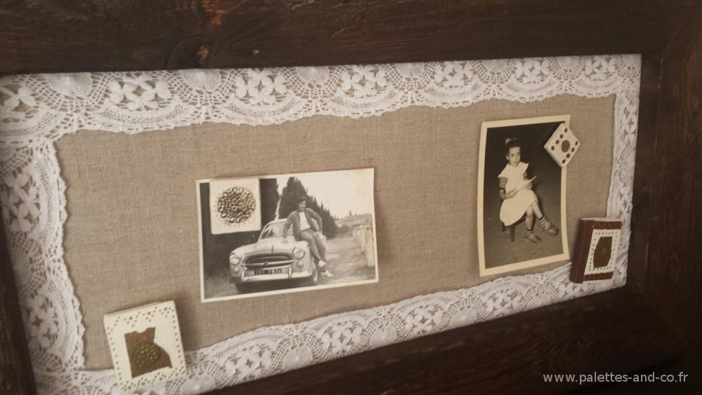 cadre photo aimant en bois massif palettes co. Black Bedroom Furniture Sets. Home Design Ideas