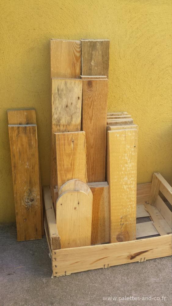 Comment fabriquer un si ge de jardin en bois de palettes for Comment assembler deux planches de bois